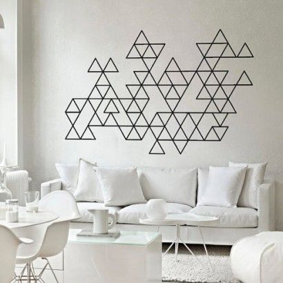 Geometric triangles decals - Moon Wall Stickers #moonwallstickers #triangles #geometric #midcentury #decals #stickers #shapes