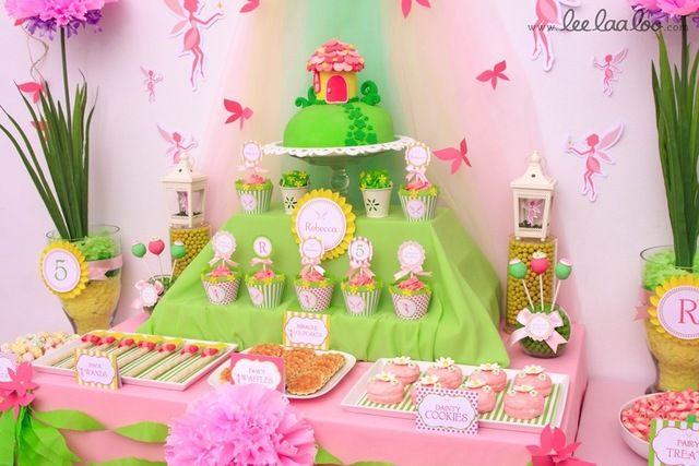 Fairy Party Dessert Table #fairy #partytable