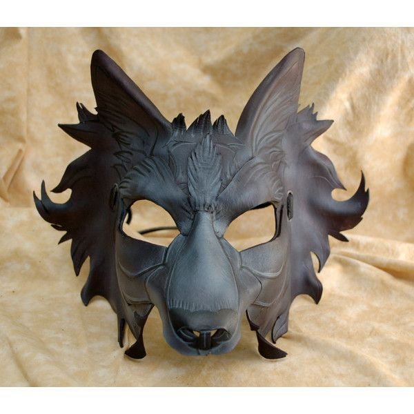grey and black direwolf game of thrones house of stark inspired leather wolf gmork cosplay mask - Halloween Wolf Costume