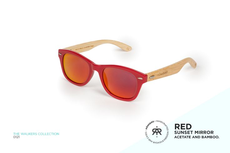 RED WAYFARER UNISEX SUNGLASSES / RED SUNSET MIRROR LENS  $1,199 MX