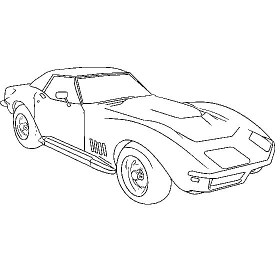 Muscle Car Coloring Pages american,muscle,car,coloring