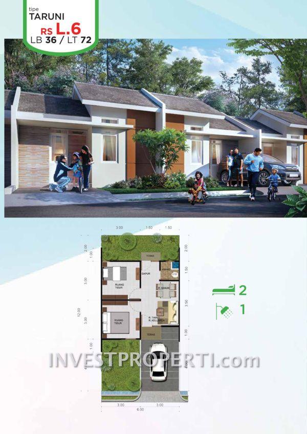Rumah murah Citra Maja Raya 2 Tipe L6