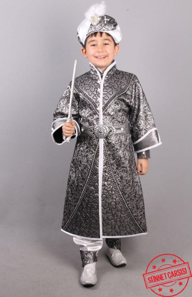 * Aslan Gri Şehzade Sünnet Kıyafeti   Şehzade sünnet kıyafetleri modellerimiz Osmanlıdaki şehzade kıyafetlerinden esinlenerek tasarlanmıştır.  www.sunnetcarsisi.com 0212 909 32 31