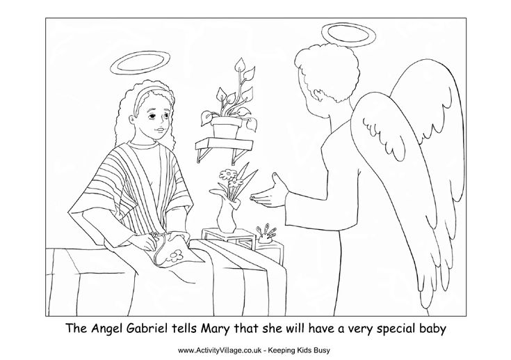 34 best christmas coloring pages images on pinterest for Gabriel visits mary coloring page
