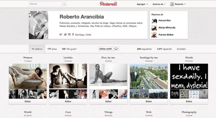 Pinterest:  http://pinterest.com/robertoachile/