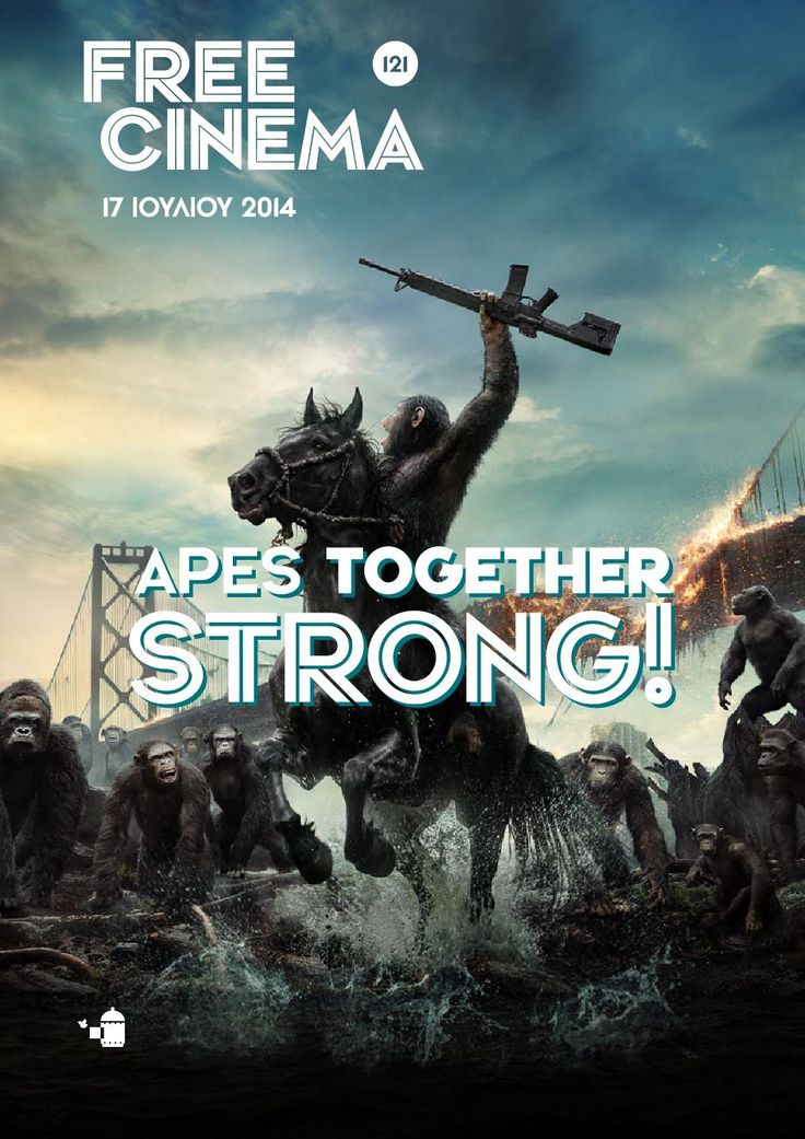 """Freecinema #121  Film Reviews for Thursday 17th of July 2014, cover for """"Dawn of The Planet of the Apes""""."""