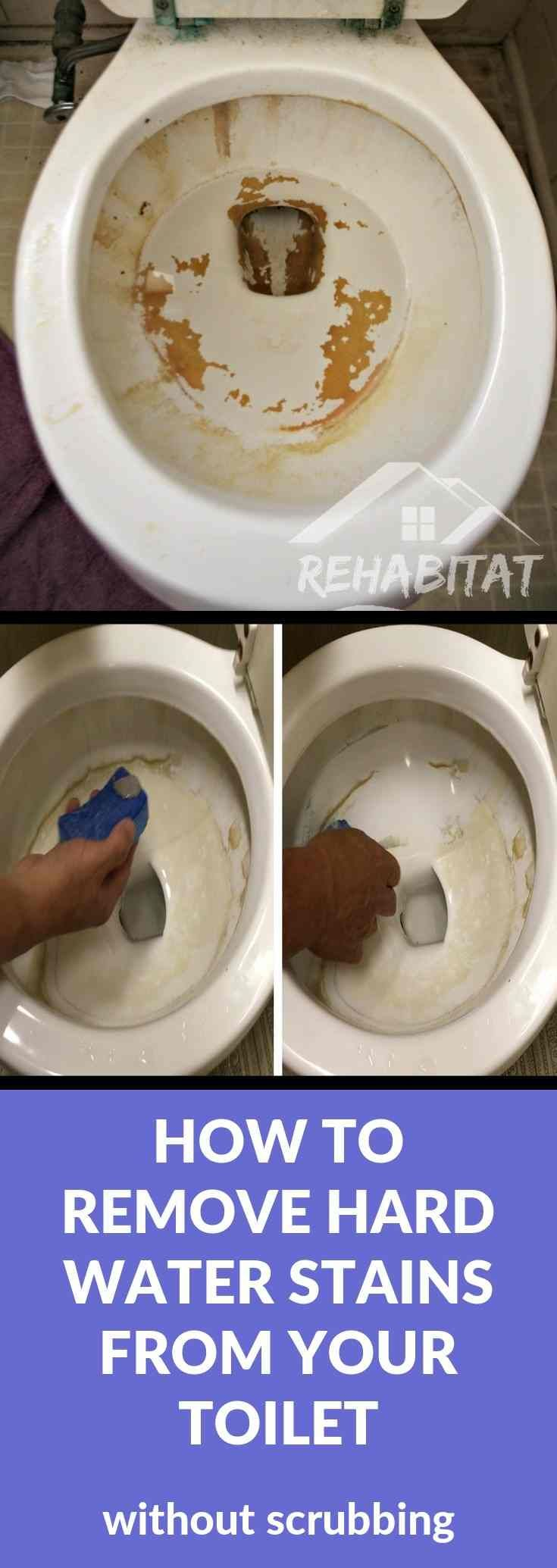 HOW TO REMOVE HARD WATER STAINS FROM TOILETS Hard water s