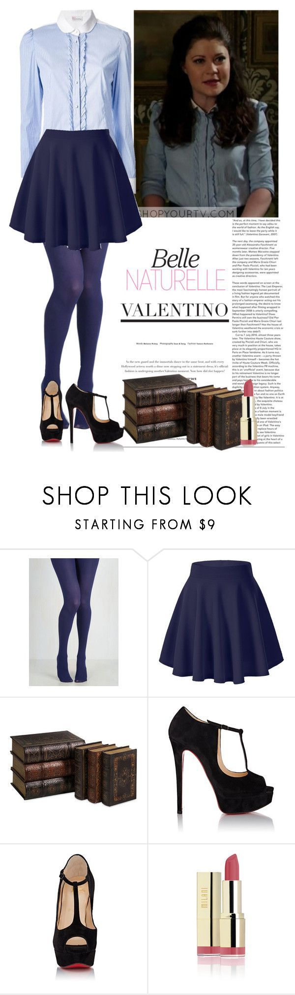 """""""Belle (Once upon a time)"""" by d-cuevas ❤ liked on Polyvore featuring Once Upon a Time, Christian Louboutin, ouat and belle"""