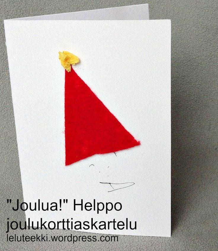 Helppo joulukorttiaskartelu http://blogi.leluteekki.fi