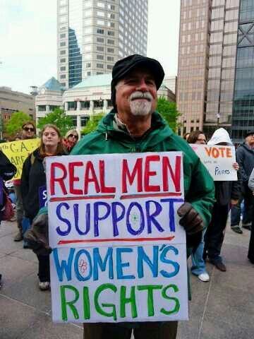 Real men supports women's rights