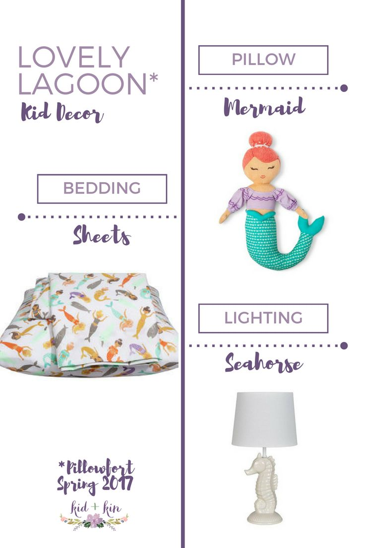 Lovely Lagoon is all about mermaids and coral colors! NEW! Target's Pillowfort Spring Collection for Kids