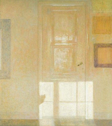 Studio door in winter  -   Jan van der Kooij  2013  Dutch b.1957-