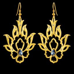 Shah Abbasi Earrings;  This collection has been named after Shah Abbas, the great ruler of Persian empire during Safavid era, because it reminds us all great examples of Persian art, craft and architecture of Isfahan, Shah Abbas's beautiful capital city.     This collection has been designed originally for the British Museum's exhibition: Shah Abbas; The Remaking of Iran .