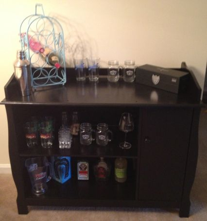 DIY Dry Bar from baby changing table