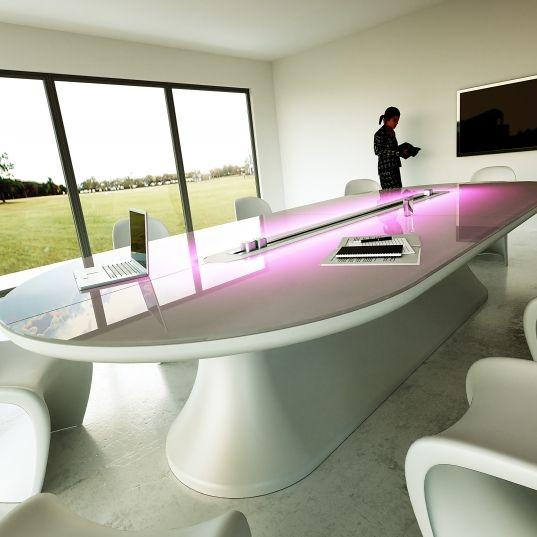 tavolo riunioni in Adamantx made in italy by Zad Design
