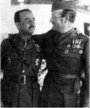 Francisco Franco y Millan Astray http://www.marca.com/blogs/tirandoadar/2015/01/07/bernabeu-un-duelo-y-la-vuelta-del-frente.html