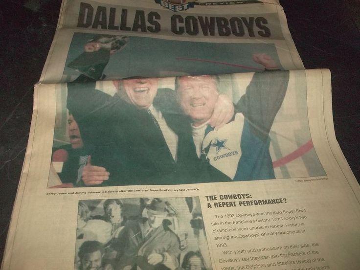 Dallas Morning News Football Preview Dallas Cowboys  Collages High School 1993 #DallasMorningNews #DallasCowboys