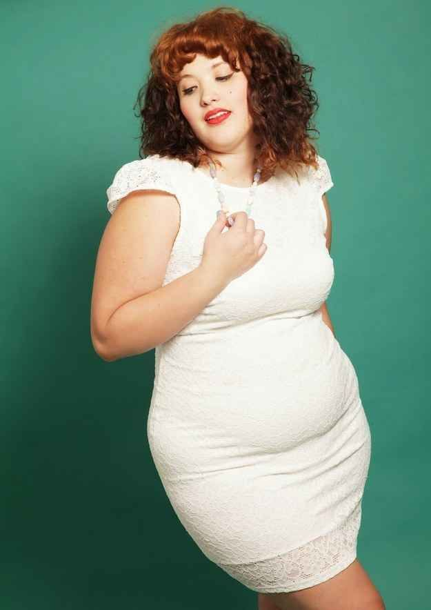 """Embrace your belly. """"I know a lot of plus-size women who follow one styling rule: HIDE THE BELLY,"""" says Ospina. """"But a lot of times, this results in wearing horrifically unflattering and baggy, fit-for-high-school-PE apparel. It's not exactly a recipe for feeling good about yourself.""""  And shapewear can over-promise and under-deliver. """"Oftentimes, shapewear and supposedly high-waisted jeans won't actually make you look like an hourglass bombshell. They'll create lumps where there aren't any…"""