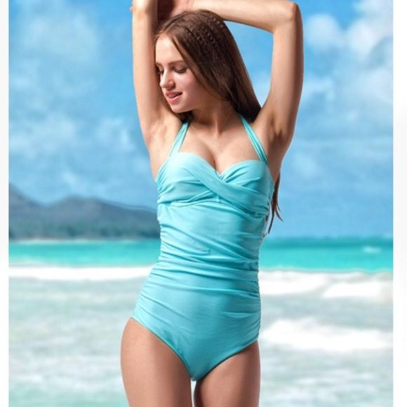 HP  Baby blue one piece swimsuit Brand new Swim One Pieces