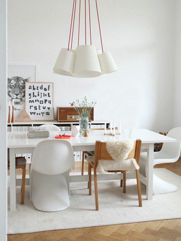 esszimmertisch mit stühlen skandinavisches design