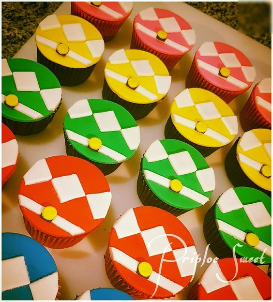 Cupcakes Power Rangers