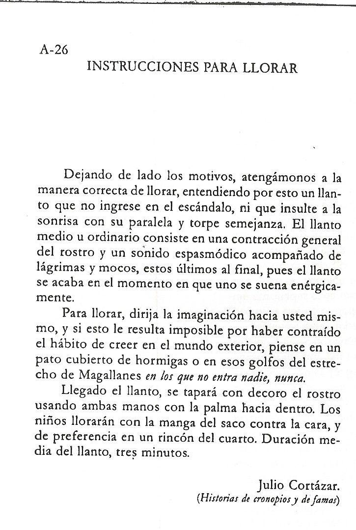 Julio Cortázar, Historias de cronopios y de famas