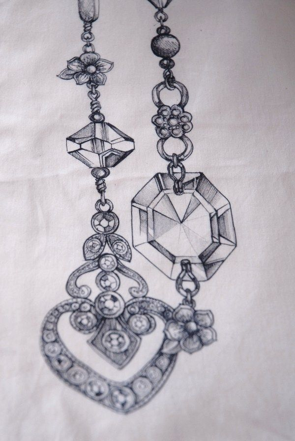 Contemporary jewellery designs using vintage components as inspiration