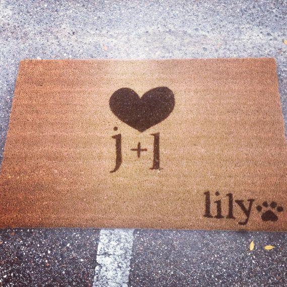 Couples Custom Made Outdoor Doormat/Welcome by JustSmileAlways, $40.60