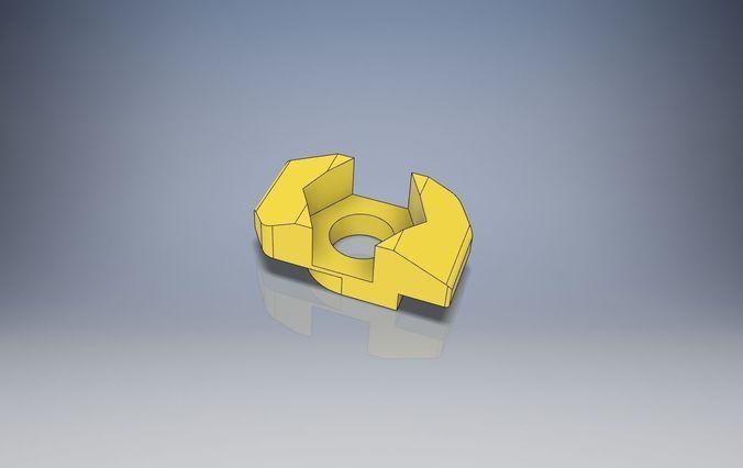 T-Nut Slot 6 Adapter to Hexagon Nut M3 3D print model