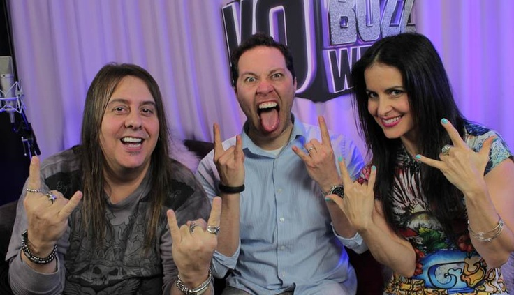 Are we having fun or what!? Chuck and Stacey J. with the awesome, Sam Riegel