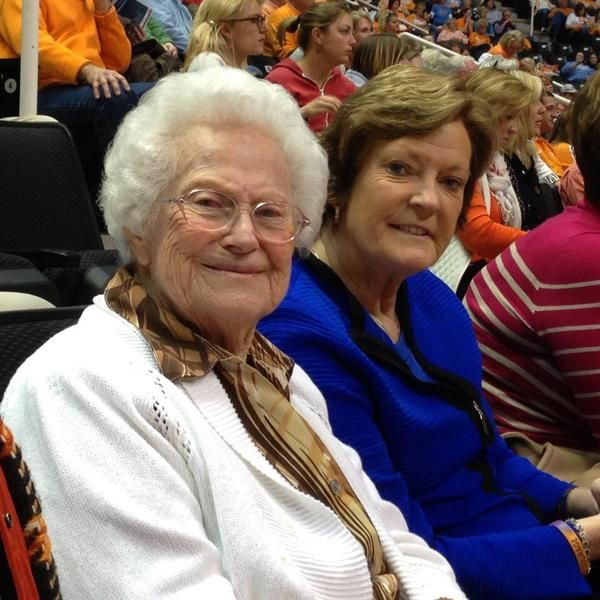 The great Pat Summitt and the great woman who raised her.