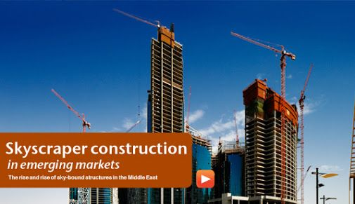 Skyscraper Construction in emerging markets During 2012, the world witnessed the birth of 66 extremely tall buildings around the world. In the 1980s, nine of the ten tallest buildings were in the United States, with one in Canada. http://middleeast-business.com/