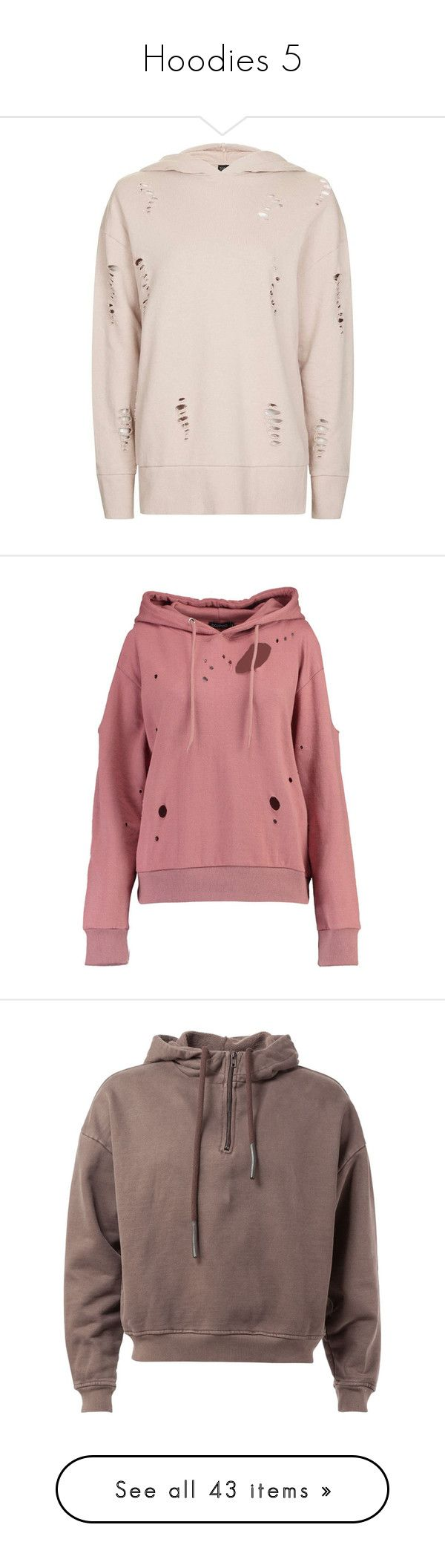 """""""Hoodies 5"""" by musicmelody1 ❤ liked on Polyvore featuring tops, hoodies, pink hoodies, distressed hoodie, sweatshirt hoodies, distressed top, topshop tops, polka dot crop top, cold shoulder tops and bralet tops"""