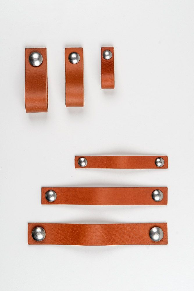 leather handle made & distributed by Nu Interieurontwerp
