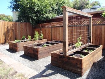 Make iron slips and secure them to the beds so that we can move trellis from bed to bed each year without having to dig it up.