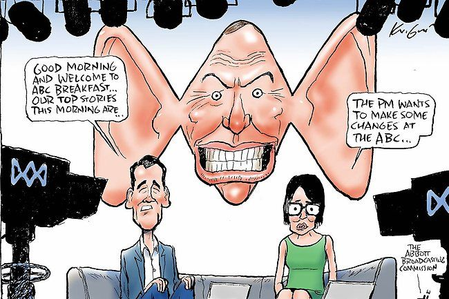 The PM wants to make some changes at the #ABC http://ow.ly/tbDDk Mark Knight cartoon via #Insiders