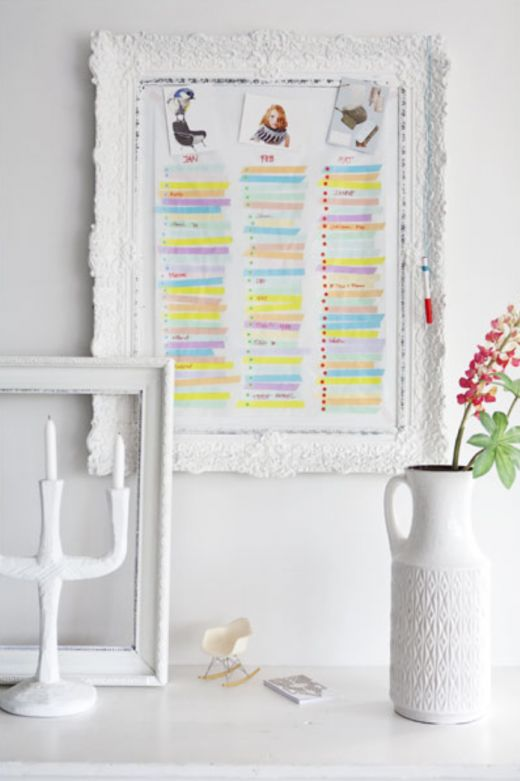 DIY washi tape calendar