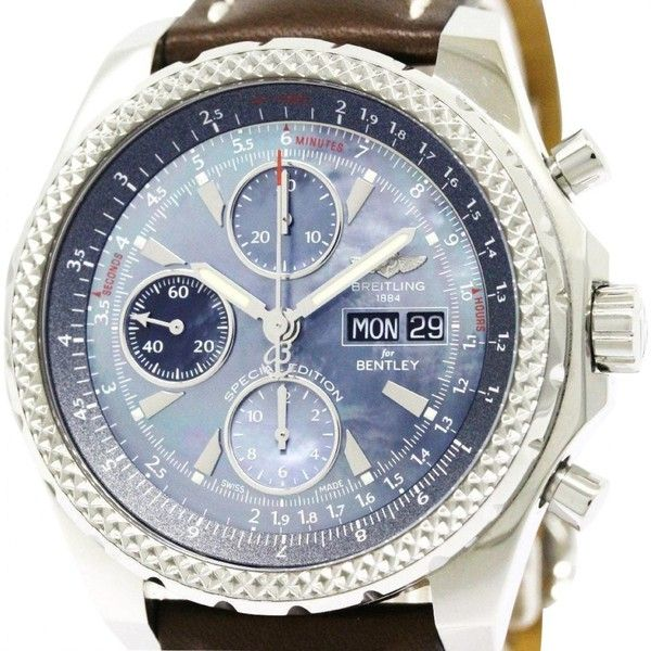 Pre-owned Breitling Watch (315.705 RUB) ❤ liked on Polyvore featuring men's fashion, men's jewelry, men's watches, blue, mens blue watches, mens watches, pre owned mens rolex watches, mens watches jewelry and breitling mens watches