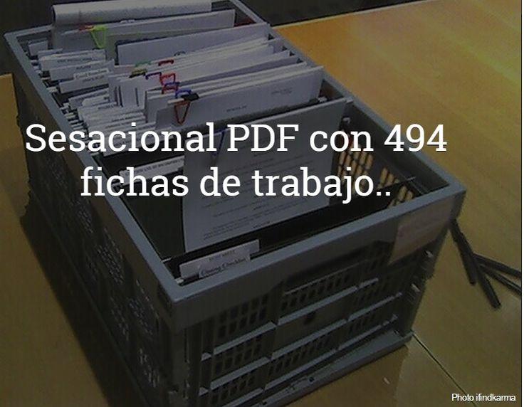 aLeXduv3: Sensacional PDF con 494 Fichas de Trabajo educativas