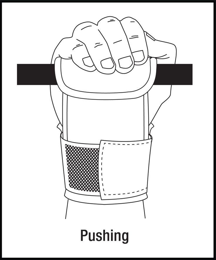 Power Grabs LIfting Grips Forward Wrap Pushing Motion