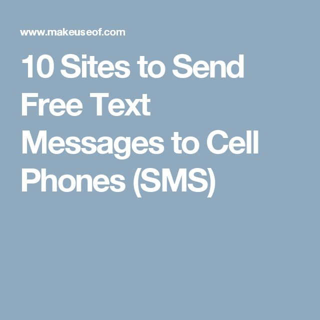 10 Sites to Send Free Text Messages to Cell Phones (SMS)