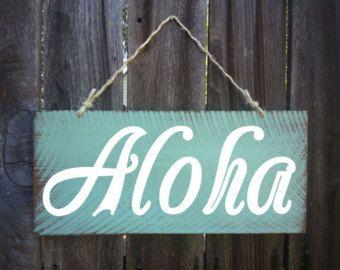 Aloha anmelden Zeichen, Hawaiian Dekor, Strand, Strand Haus Dekor, Decor Surf, Surf Shack, Hawaii, Hawaii, 50