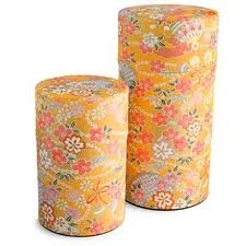 Washi paper tea canisters