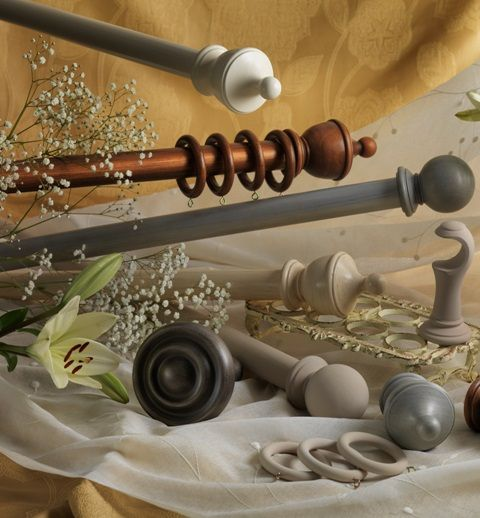 A Selection Of Stunning Wooden Curtain Poles From Our Range. Wooden Curtain  Poles Add Warmth As Well As Elegance To A Window, Fitting Comfortably Into  Any ...