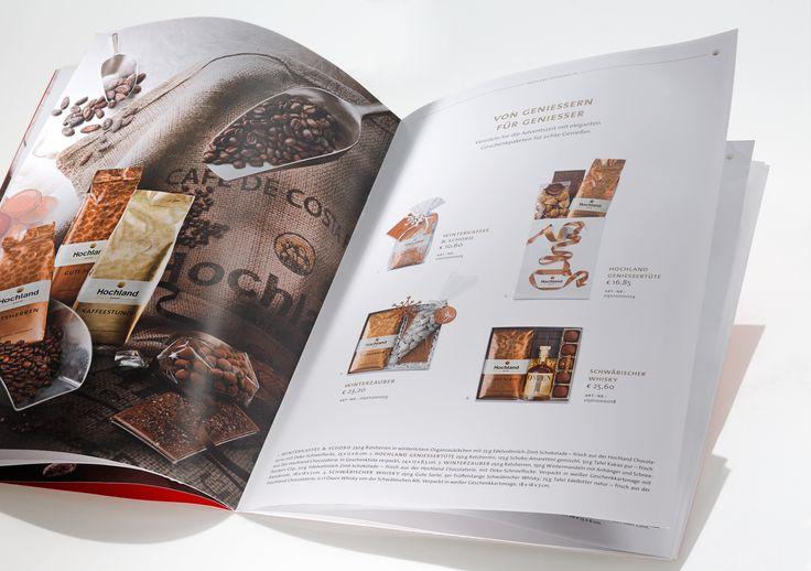 HOCHLAND KAFFEE // GIFT BROCHURE  – printed on bvs matt white