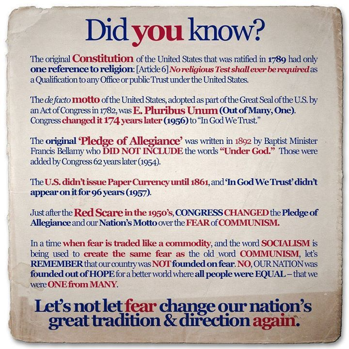 some powerful words and facts that all Americans should know