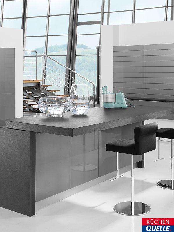 24 best Design-Küchen images on Pinterest - küchenschrank hochglanz weiß