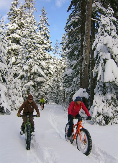 Fat Bikes: Snowy-Street Style - Slope Style - Winter 2013 #visitidaho #sunvalleynordicfestival #fatbike #bicycle