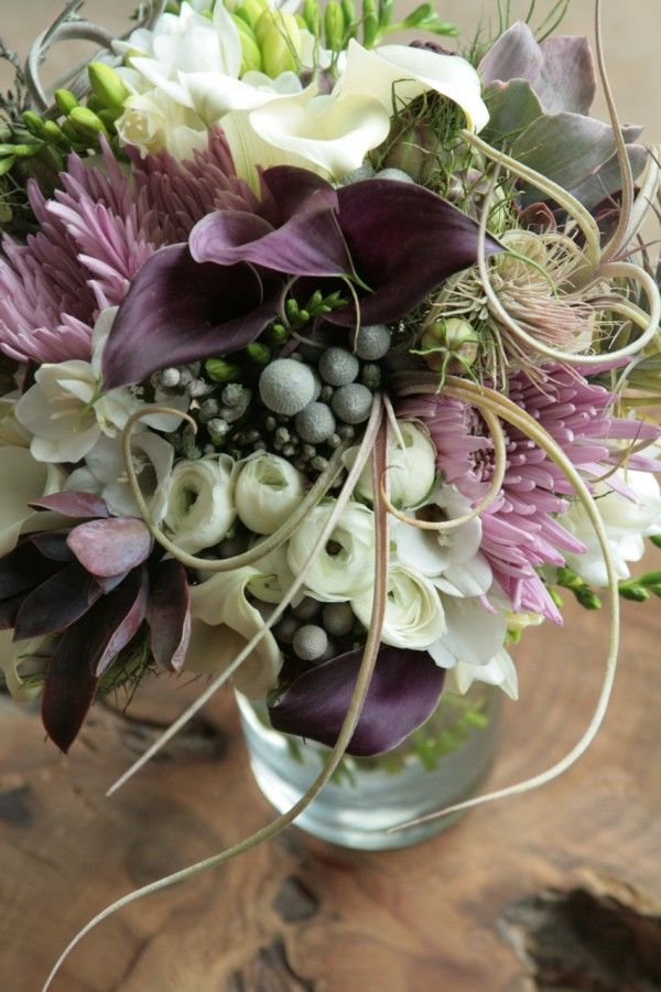 airplant bridal bouquets | air plant bair plant bouquet, succulent bouquet, tend, green wedding ...