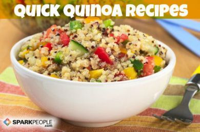 Quinoa is a tiny super food that's packed with protein! Try these new recipes to get your daily quota of quinoa.  I LOVE quinoa!!!!